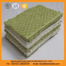 cheap bulk 10s 80% cotton +20% polyester plain dyed waffle weave disposable kitchen towel