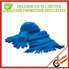 Wholsale Winter Fleece Scarf Hat Gloves Polyester Sets