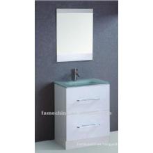 Fregadero de cristal blanco unidades de tocador / gabinetes