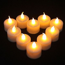 Battery powered flameless LED tealight candle
