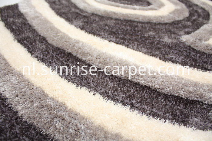 Elastic mixed with Viscose Shaggy Rug with 3D design