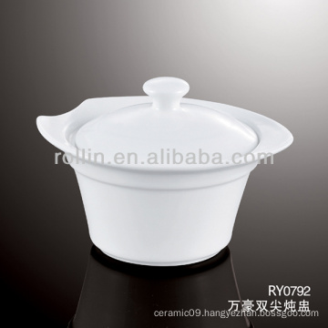 good quality chinese white porcelain soup bowl