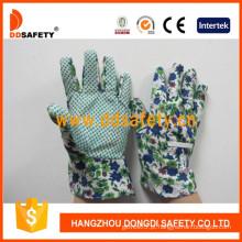 Luvas para crianças / crianças. Pontos verdes na palma da mão. (DGK114)