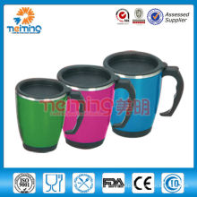 insulated double wall stainless steel cup with PP lid