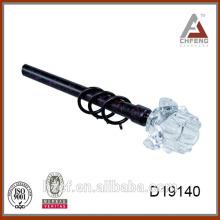 D19140 optical glass rod drapery rods