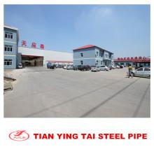 Tuyau d'acier pré-galvanisé fabriqué en Chine