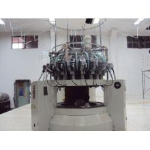Vieux Tissu en peluche informatisé machine à tisser à tricoter circulaire