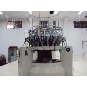 Alte Plüsch Fabric Computerized Rundstrickerei Textilmaschine