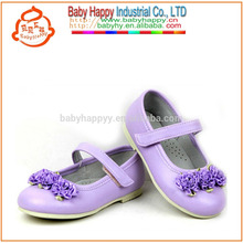 High quality children fancy rose mary jane shoes