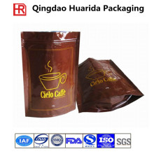 Bolso de empaquetado modificado para requisitos particulares del café de la cremallera plástica con la impresión colorida