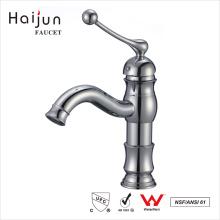 Haijun 2017 Precios al por mayor Baño solo manejar lavabo empujar hacia abajo grifo