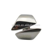 Alta qualidade em aço inoxidável anel de punho de prata para homens