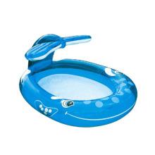 Backyard Water Fun Inflatable Whale Spray Pools customized