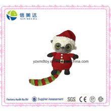 Plüsch Niedlich Plüsch Weihnachten Santa Waschbär Spielzeug