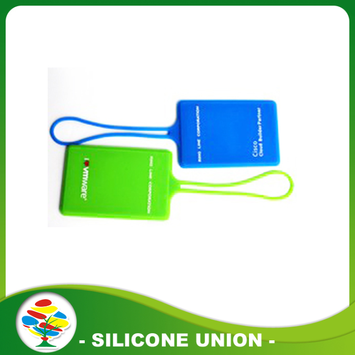 colorful Silicone luggage tag