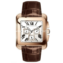 High quality stainless steel square watches men