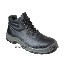 Split Embossed Leather Safety Shoes with Mesh Lining (HQ01006)