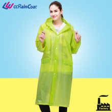 EVA colorful plain durable raincoat with air hole