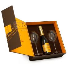 Boîte d'emballage de vin en forme de livre magnétique
