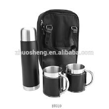 En acier inoxydable flacon vide coffret tasse avec étui et housse