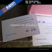 Letterpress bedrucktes Papier einfache Luxus Visitenkarten Vorlage Drucker