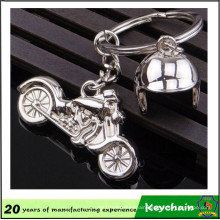 Cheap Custom Metal Motorcycle Helmet Keychain