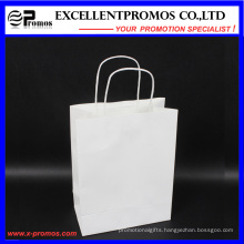 Customized Logo White Kraft Shopping Bag (EP-B581705)