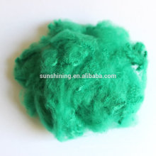 Hot sell 3D dope dyed colorful recycled polyester staple fibre