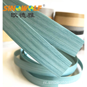 Hot Sale Blue Wood Grain PVC Kantenverlijming