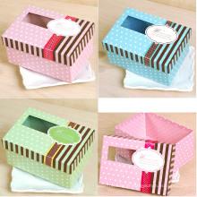 Boîte d'emballage cadeau de petite taille populaire avec fenêtre claire