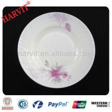 Plaque de soupe de décoration en verre opale résistant à la chaleur