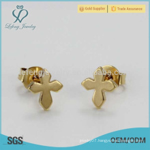 Hot selling titanium steel arabic gold earring men designs