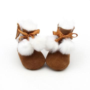 Unisex Winter Pompom Baby Boots