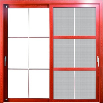 Puerta corrediza con red de seguridad antirrobo Diamond