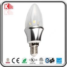Alta calidad 3W COB E14 LED luz de la vela