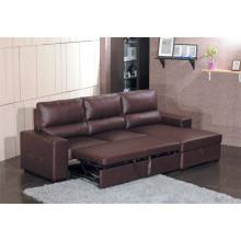 Echtes Leder Chaise Leder Sofa Elektrisch Verstellbares Sofa (712)