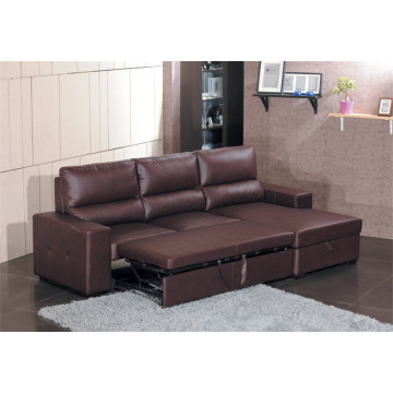 Genuine Leather Chaise Leather Sofa Electric Recliner Sofa (712)