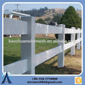 High quality 2 rails, 3 rails and 4 rails white vinyl horse fence, horse fence, 3 rails horse fence