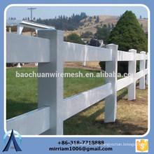 Hochwertige 2 Schienen, 3 Schienen und 4 Schienen weißer Vinyl Pferd Zaun, Pferd Zaun, 3 Schienen Pferd Zaun