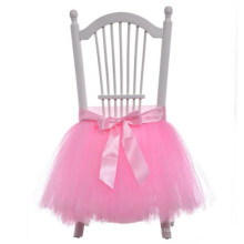 2018 European American royal fashion wedding slipcovers dinning baby birthday party chair covers tulle tutu chair skirt