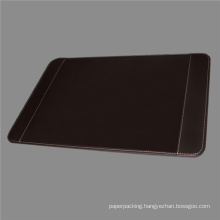 Quality Brown Leather Desk Pad with Side Holders