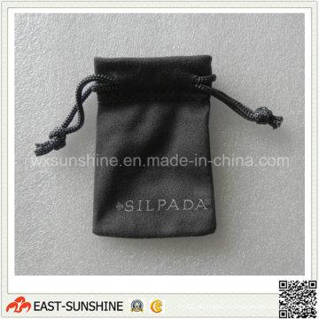 Impresión de seda cepillado bolsa de tela para la joyería (DH-MC0423)