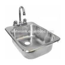 NSF Edelstahl Handwaschbecken mit Hahnlöcher