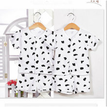 Conjunto de ropa interior de algodón de verano para bebés de manga corta