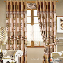 hot sale royal latest luxury hotel blackout frilled curtain fabric india