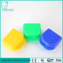 Colorful Plastic Dental Denture Box With Mirror