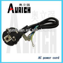 Estándar de la UE pvc aislado Inicio aparatos Ac Power cable con cable carrete