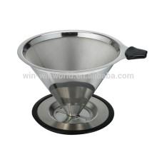 Gotejador de café de aço inoxidável de venda quente relativo à promoção do café do presente do Natal de Amazon