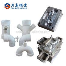 Industrial Custom Plastic Injection Moulding Pvc Double Outlet Y Type Pipe Fitting Mould