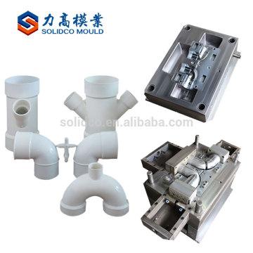 Mejor precio personalizado moldes de plástico pvc codo tubo upvc presión de ajuste del molde